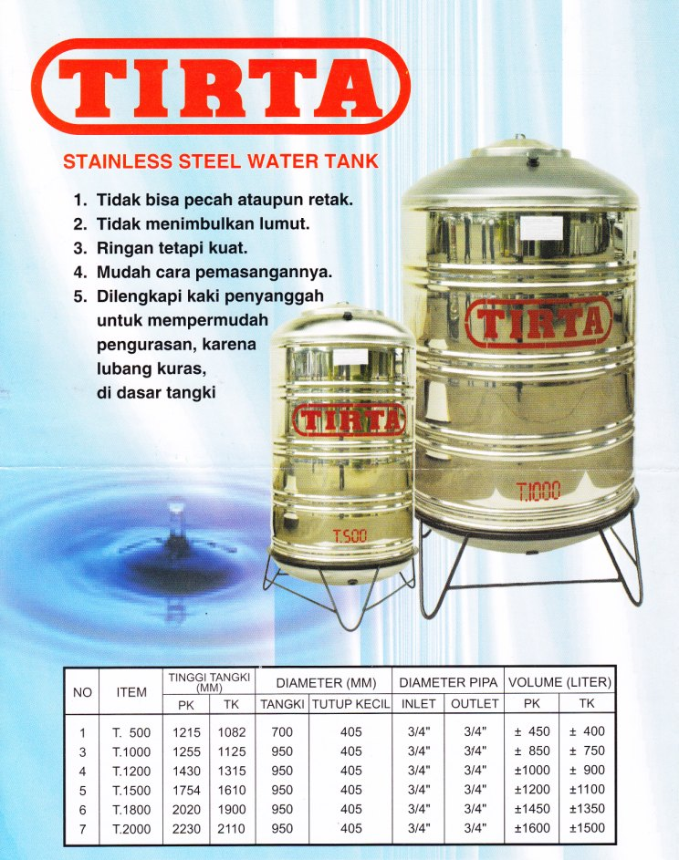 Toren Air Stainless Steel Tirta